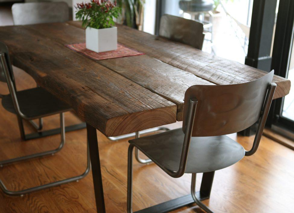 trä matbord 3 brädor trä