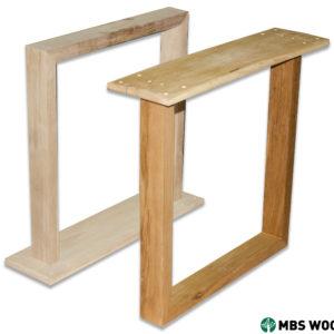 ofärdiga bordsben i trä