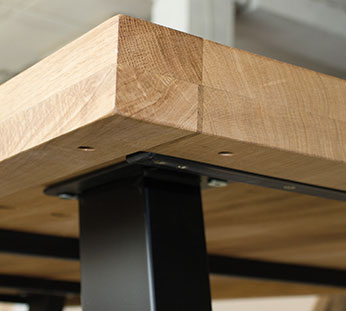 oak tabletop15 Produktion av bordsskivorna
