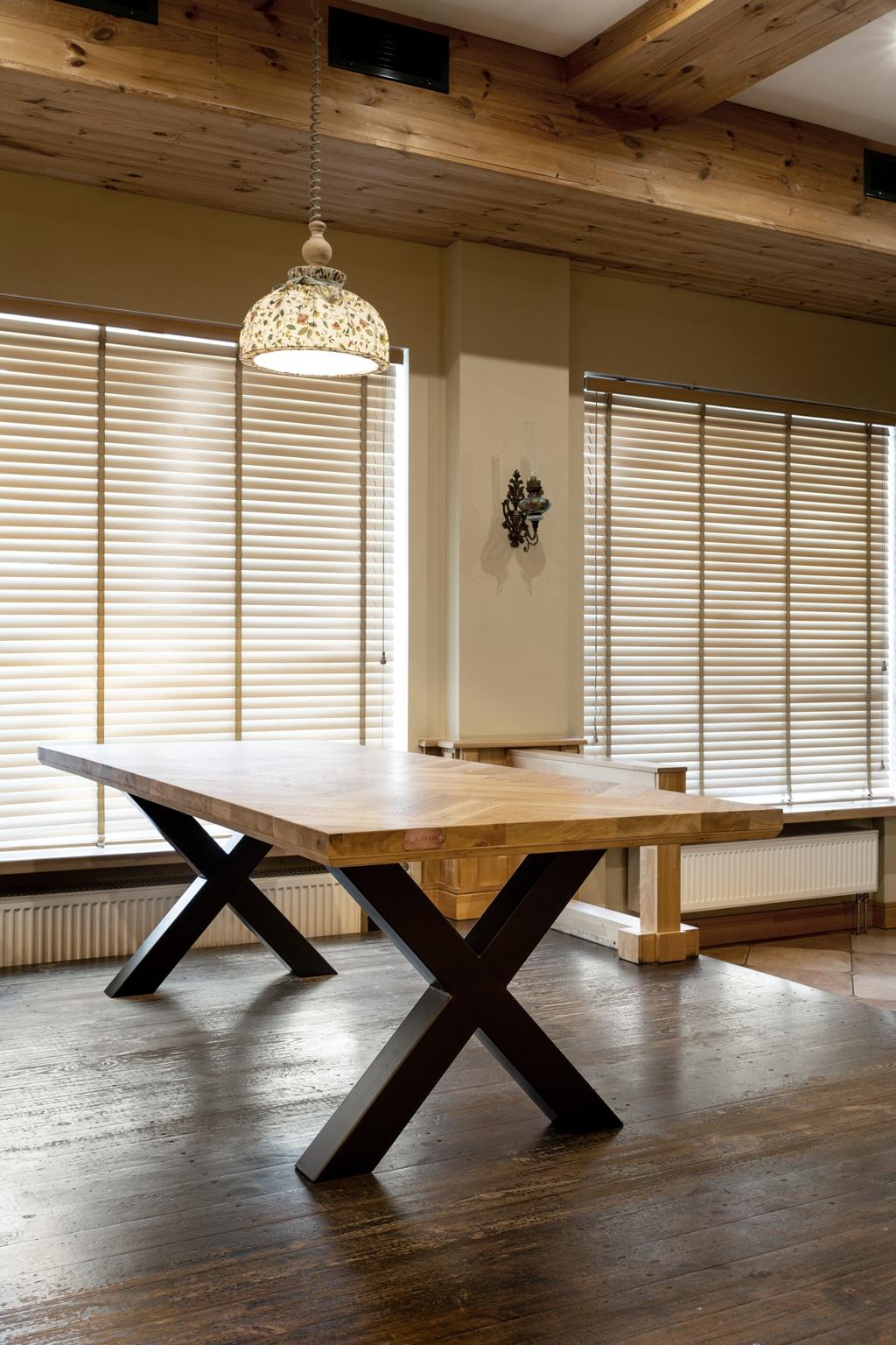 oak table mbswood.com 4 Ek bordsskivor limmade från brädor